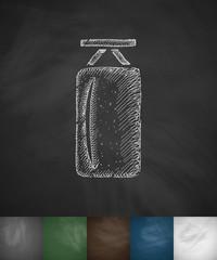 punching bag icon. Hand drawn vector illustration