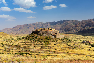 village of berber on a hill in south morocco