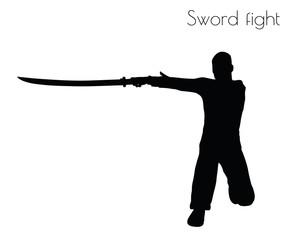 man in swordfight Action pose