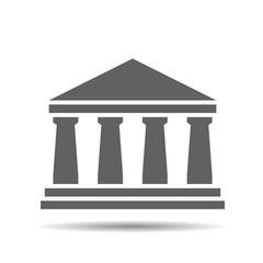 black bank icon on a white background