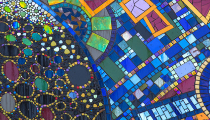 background of mosaic color many items