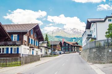 Typical village in Switzerland Alps