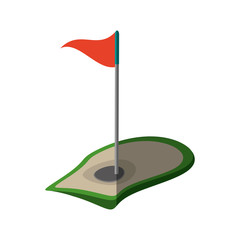 golf flag hole isolated icon vector illustration design