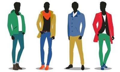 winter fashion, male silhouettes
