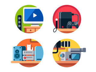 Electronics, music center, television