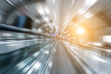 blurred business passengers
