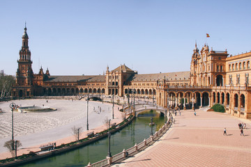 Part of the Plaza de Espana in Seville (Spain)