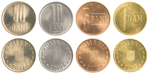 Romanian Bani coins collection set