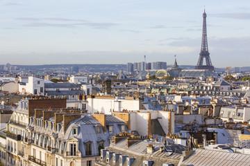 Wall Mural - Les toits de Paris depuis Haussmann