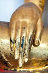 Image Buddha's hand close up.
