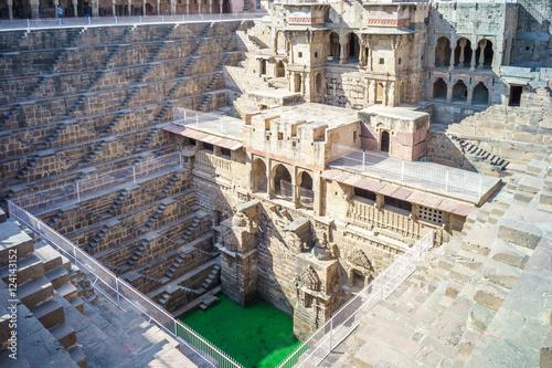 Detail of Chand Baori, Abhaneri, Rajasthan, India без смс