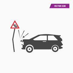 Car crash icon illustration isolated vector sign symbol