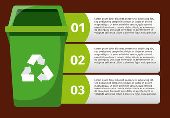 Green Recycling Bin Infographic