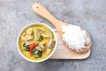 green curry with pork, Thai cuisine