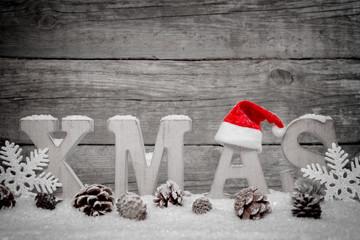 Weihnachten Hintergrund mit roter Mütze