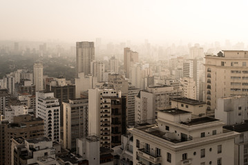 Sao Paulo City Skyline with Endless Buildings