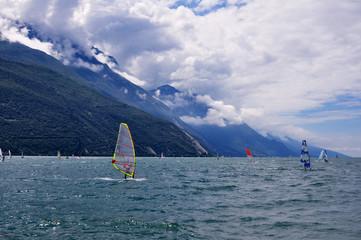 Windsurfen am Garda See
