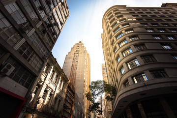 Buildings in Downtown of Sao Paulo City in Brazil
