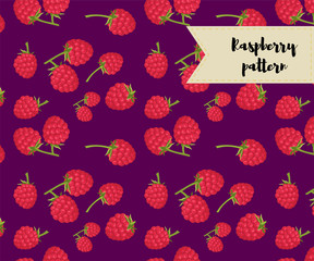 vector raspberry seamless pattern. background, pattern, fabric design, wrapping paper, cover