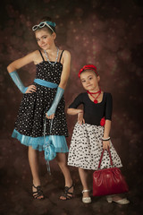 Two Rockabilly girls