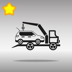 black Car evacuator Icon button logo symbol concept high quality