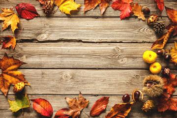 Thanksgiving autumnal background