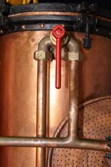 Vintage copper tank detail