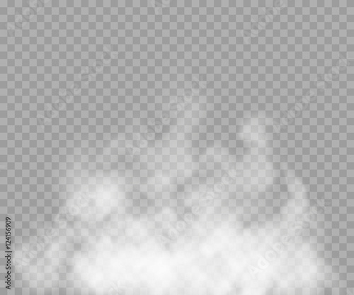 Fog Or Smoke Isolated Transparent Special Effect White Vector Cloudiness Mist Smog Background