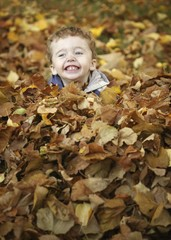 Playing With The Autumn Leaves