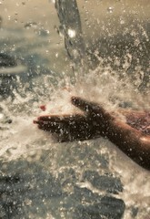 Rinsing Hands