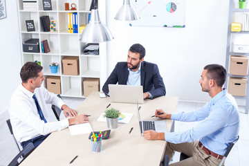 Group Of Business People Having Meeting In Office. Business part