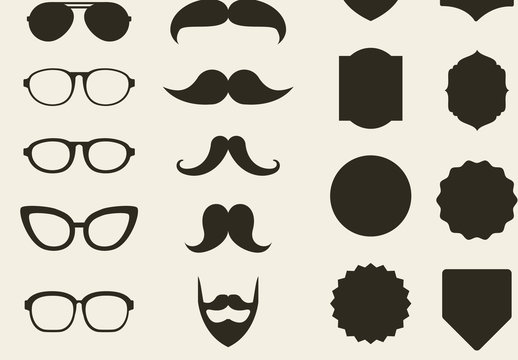 39 Trendy Lifestyle Product and Item Silhouette Icons
