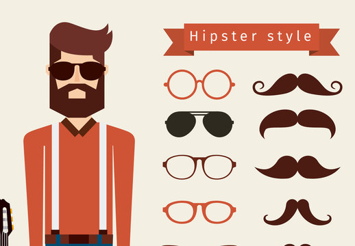 14 Small and 1 Large Trendy Lifestyle Icons