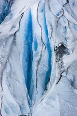 Close Up Detail Of Shoup Glacier, Shoup Bay State Marine Park, Valdez, Southcentral Alaska, Summer
