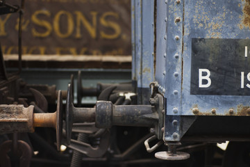 Train Cars And Rusted Clamps; Shildon, Durham, England