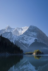 The Upper Lake At Sunrise; Kananaskis, Alberta, Canada