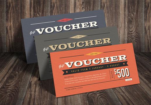 Retro Gift/Voucher Card