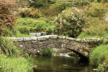Old Stone Bridge Across A Stream In Dartmoor National Park; Devon, England