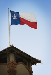San Antonio, Texas, United States Of America; Texas Flag