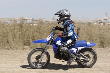 Girl On A Motorcross Bike