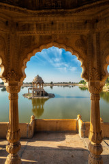 Wall Mural - Indian landmark Gadi Sagar in Rajasthan