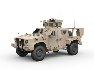 Light combat all terrain military vehicle - side view