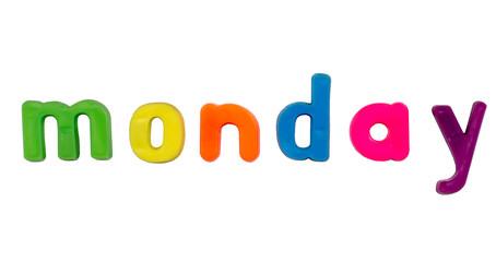 Magnetic alphabet letters - Monday