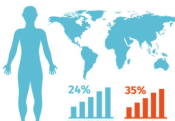 Lifestyle Demographic Data by Location Infographic (No Icon Set)