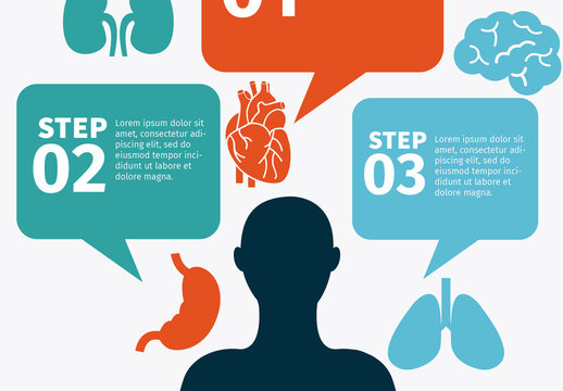 Physical Health Data with Talk Bubble Element Infographic