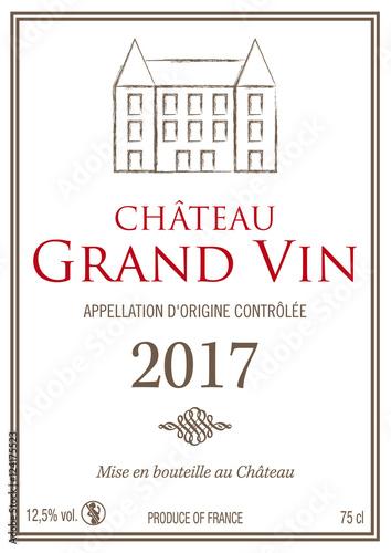 """Bien connu Étiquette bouteille de vin 2017"""" fichier vectoriel libre de droits  KG34"""