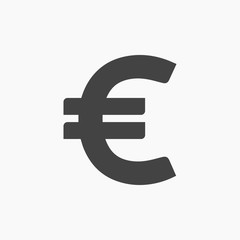 euro icon illustration isolated vector sign symbol