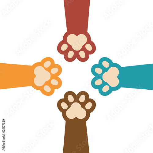 paw print kitti set icon design vector illustration eps 10  Immagi