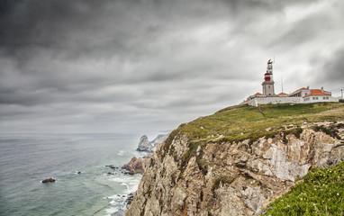 Cabo da Roca stormy dramatic landscape, Portugal