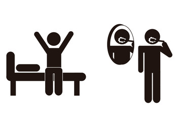 9 Black and White Gym and Workout Pictogram Icons